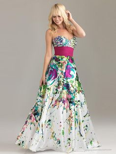 Vibrant Floral Print Fabric Strapless Sweetheart Neckline Sequined Trim Quinceanera Dresses WPD7099 Can Show Your Perfenct Figure | When You Want To Buy Nice Quinceanera Dresses Hot Pink And Black Is Your Best Choice