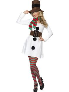 Adult Ladies Christmas Snowman Costume Smiffys