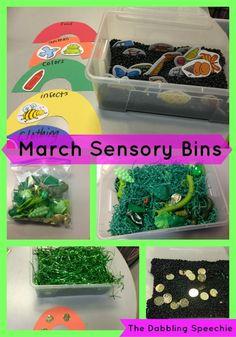 March sensory bins f