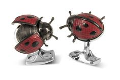 <p>These beautiful, unique ladybird cufflinks are sure to knock the spots off anyone who wears them!<p> </p> <p>Inspired by childhood nature trails and the great outdoors, these delightfully friendly little love bugs have been hand-assembled out of 38 h