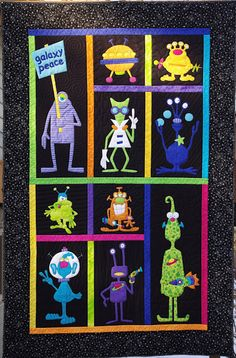 monster quilt by Cythia of Ahhh...Quilting  -- lots of photos