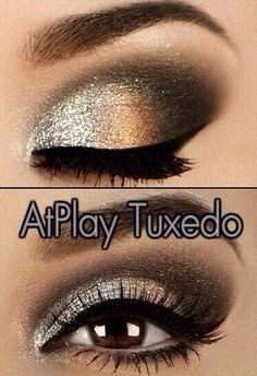 Party makeup! Get this look with #Marykay AtPlay Baked Eye Trio in Tuxedo. #lookfab