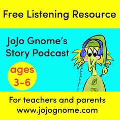 Fun and free story podcast for ages Free Stories, S Stories, Gnomes Book, Love Sound, Story Starters, Age 3, Love Book, Storytelling, Poems