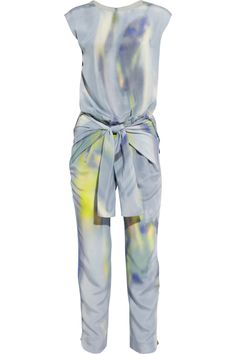 Theyskens' Theory Ginta Printed Silk Jumpsuit                            Theyskens' Theory Ginta Printed Silk Jumpsuit - via StyleList
