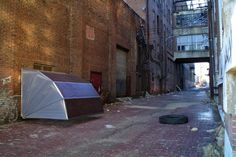 Fold-able Urban Shelters Could Solve Homelessness / Wouldn't solve homelessness, but it's a start