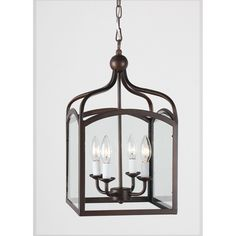 Ashley Bronze 4-light Foyer Hanging Lantern - Overstock™ Shopping - Great Deals on Otis Designs Chandeliers & Pendants