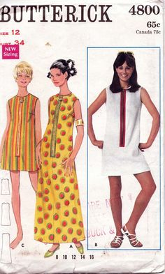 60s pattern with exposed zipper :)