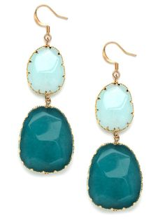Aqua Color-block Boho Drops