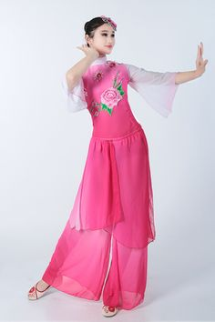 953a26bb1 Chinese Folk Dance Costume Adult Female Dance Costume Stage Costumes  Classical Dance Fan Yangko Dance Clothing-in Chinese Folk Dance from  Novelty & Special ...