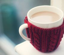 Cup jacket to keep your Coffee warm! Great idea...