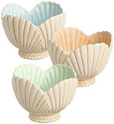 each Grasslands Road-Beach Nautical Decor Ceramic Clam Shell Shaped Serving Bowl Seashell Art, Seashell Crafts, Sea Crafts, Home Crafts, Seashell Projects, Shell Decorations, Painted Shells, Creation Deco, Diy Craft Projects