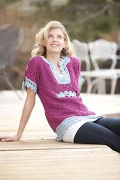 This crochet tunic is beautiful. I love the blue crochet lace. Aragon Tunic - Media - Crochet Me