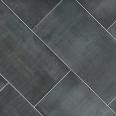 Millennium Steel Porcelain Tile - 15 x 30 - 100589464 Grey Bathroom Floor, Grey Kitchen Floor, Shower Floor Tile, Kitchen Flooring, Small Bathroom, Master Bathroom, Bathroom Ideas, Kitchen Floor Tiles, Royal Bathroom