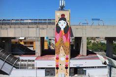 """Una donna farfalla, porta colori e bellezza su un pilone in cemento della stazione di Castello di Cisterna. Il suo nome è """"Colorful Queen"""" Graffiti, Queen, Outdoor Decor, Home Decor, Cement, Decoration Home, Room Decor, Home Interior Design, Graffiti Artwork"""