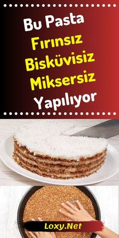 Cake Recipe Without Oven, Biscuit, Mixer , Easy Desserts, Dessert Recipes, Cake Recipes Without Oven, Yummy Food, Tasty, Recipe Mix, Strawberry Desserts, Pastry Cake, Turkish Recipes