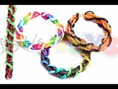 Rainbow Loom or Monster Tail SPIRAL WRAP FISHTAIL Bracelet. Designed and loomed by Rob at justinstoys. Click photo for YouTube tutorial. 05/16/14.