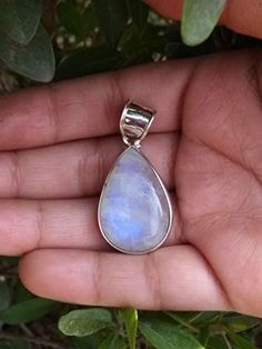 Online shopping from a great selection at Handmade Products Store. Moonstone Pendant, Moonstone Jewelry, Gemstone Jewelry, Statement Jewelry, Pendant Necklace, Rainbow Moonstone, Blue Moonstone, Gypsy Jewelry, Birthstone Jewelry