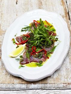 Sicilian-style tuna carpaccio | Jamie Oliver