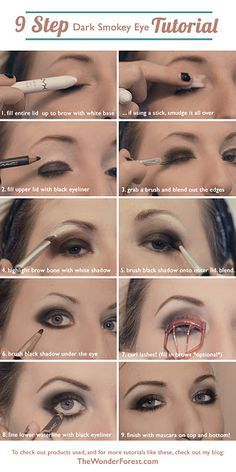 how to smokey eye - I used to do this with browns. Need to try black  gray.