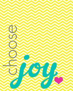 choose joy -printable
