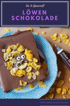 So machst du leckere Schokolade mit Keks und Löwenmotiv selbst! #schokolade #diy