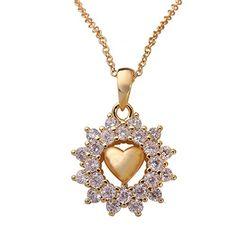 BeOne®Sparkling Zircon Diamond Flower Gold Plated Gold Heart Pendant Necklace BeOne http://www.amazon.com/dp/B015MXVPU8/ref=cm_sw_r_pi_dp_swrawb1ZHMTYC