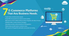 Are you looking for the right e-commerce platform for your business? If you're looking for information to help you choose the right one for you, check out our top 7 e-commerce platforms for any business.  #best_ecommerce_platforms #CodeClouds