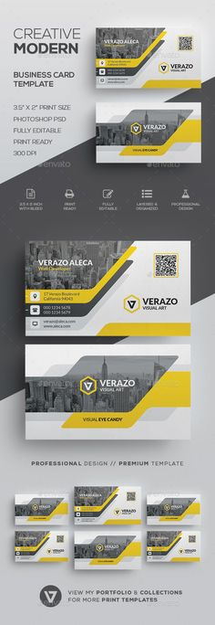 Modern Business Card Template by verazo Need more high quality business card? View my Business Card Templates Collection OR Save Money! Buy Business Card Bundle for only High Quality Business Cards, Buy Business Cards, Modern Business Cards, Corporate Business, Creative Business Cards, Professional Business Card Design, Corporate Design, Business Design, Layout Design