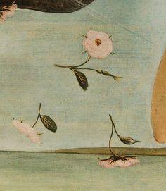Detail from Birth of Venus, Sandro Botticelli, 1496 Botanical Art, Botanical Illustration, Illustration Art, Renaissance Paintings, Renaissance Art, Venus Roses, Sculpture Textile, Art Music, Word Art