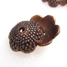 Acorn Bead Caps Antique Copper Acorn Tops Perfectly by jjmjewelry