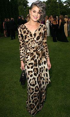 Kelly Osbourne in a stunning leopard print dress.