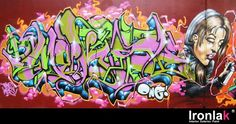 graffiti work using an edgy type of their own