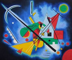 Blue Painting - Wassily Kandinsky Painting On Canvas - Click Image to Close