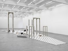 Latifa Echakhch, Tannhäuser, 2013 (in Marciano Art Foundation opening collection May 2017) : object's importance=defined by what it means if it is lost. Thru loss, we'll understand true meaning of object2 a society or culture. A Large-scale installation: wooden floor, 3 harps, assorted stage lights& shells of stage scenery. A recreation of decor for an opera performance by famous composer+ political polemicist Richard Wagner. She created an archaeological relic, where the opera performance…