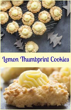 Lemon Thumbprint Cookies are an easy Christmas Cookie Recipe, a buttery lemon base rolled in chopped almonds makes these the best cookies. Easy Christmas Cookie Recipes, Best Christmas Cookies, Xmas Cookies, Easy Cookie Recipes, Yummy Cookies, Holiday Recipes, Lemon Cookies Easy, Thumbprint Cookies Recipe, Freezable Cookies