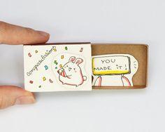 Félicitations vous l'avez fait carte Matchbox / boîte par shop3xu