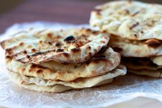 Grilled Sourdough Flatbreads | The Sweets Life