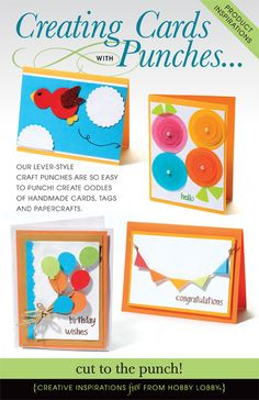 OUR LEVER-STYLE CRAFT PUNCHES ARE SO EASY TO PUNCH! CREATE OODLES OF HANDMADE CARDS, TAGS AND PAPERCRAFTS.