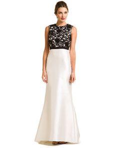 Carmen Marc Valvo One-shoulder Evening Dresses with Ruffle Details ...