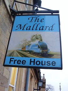 The Mallard Free House on the railway station at Worksop, Notts.