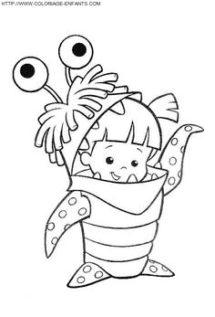 find this pin and more on coloriages monsters inc boo coloring page