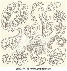 paisley line drawing - Bing Images