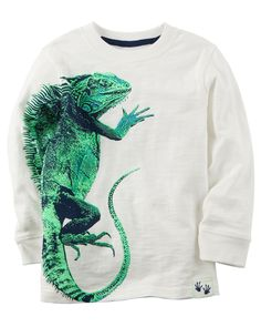 Toddler Boy Long-Sleeve Iguana Graphic Tee from Carters.com. Shop clothing & accessories from a trusted name in kids, toddlers, and baby clothes.