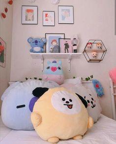 Cute Room Ideas, Cute Room Decor, Dream Rooms, Dream Bedroom, Room Ideas Bedroom, Bedroom Decor, Army Room Decor, Kawaii Room, Minimalist Room