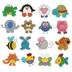 Animals Critters Filled Machine Embroidery Designs | Designs by JuJu