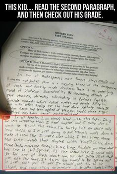A Graded Paper With A Funny Response funny lol humor funny pictures funny photos funny images hilarious pictures Funny Pins, Funny Memes, Funny Stuff, Funny Cartoons, Random Stuff, Haha, Funny Test Answers, Excuse Moi, Look At You
