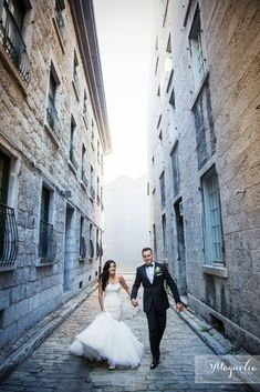 Urban wedding photography in Montreal!  ROMANTIC FAIRYTALE WEDDING IN MONTREAL www.elegantwedding.ca
