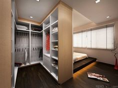 42 Trendy Master Bedroom Closet Behind Bed Decorating Ideas Master Bedroom Closet, Bedroom Wardrobe, Living Room Bedroom, Home Decor Bedroom, Living Rooms, Diy Bedroom, Closet Behind Bed, Closet Wall, Bathroom Closet