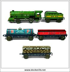 Miniature Goods Train, GTP / GLAM TOY Ltd., Great Britain. (Picture 2 of 2) Vintage Tin Litho Tin Plate Toy. Floor Train. Photo in DOCKERILLS - TIN TOY REFERENCE - GREAT BRITAIN - Google Photos Toys Uk, All Toys, Web Research, Wales, Britain, Tin, Plate, Floor, Google
