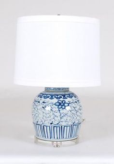 Blue And White Ginger Jar Lamp: Avala And Summerour Lamps.